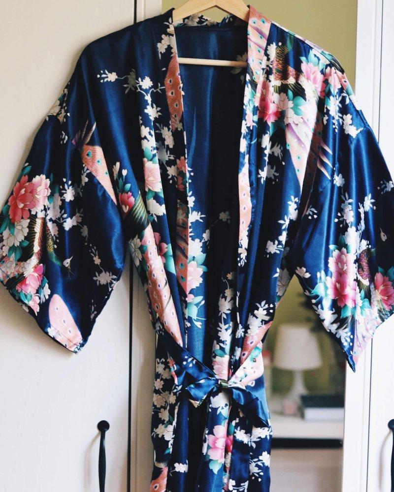 Kimono modré plážové