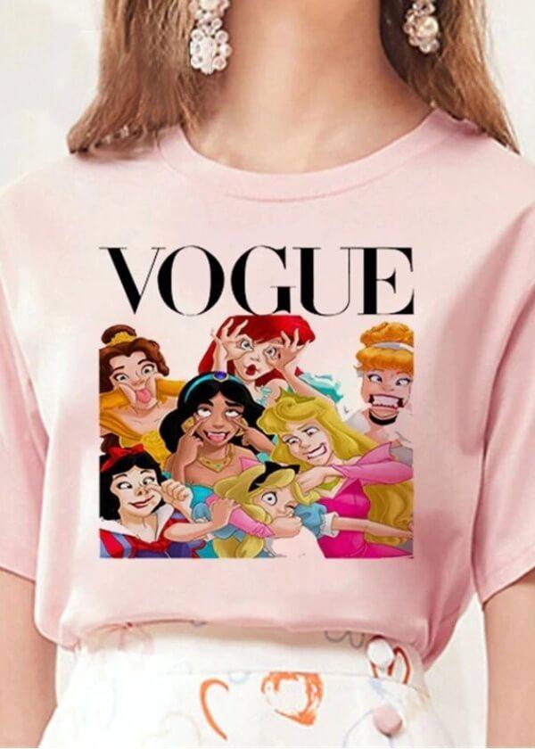 Ružové pastelové tričko Vogue