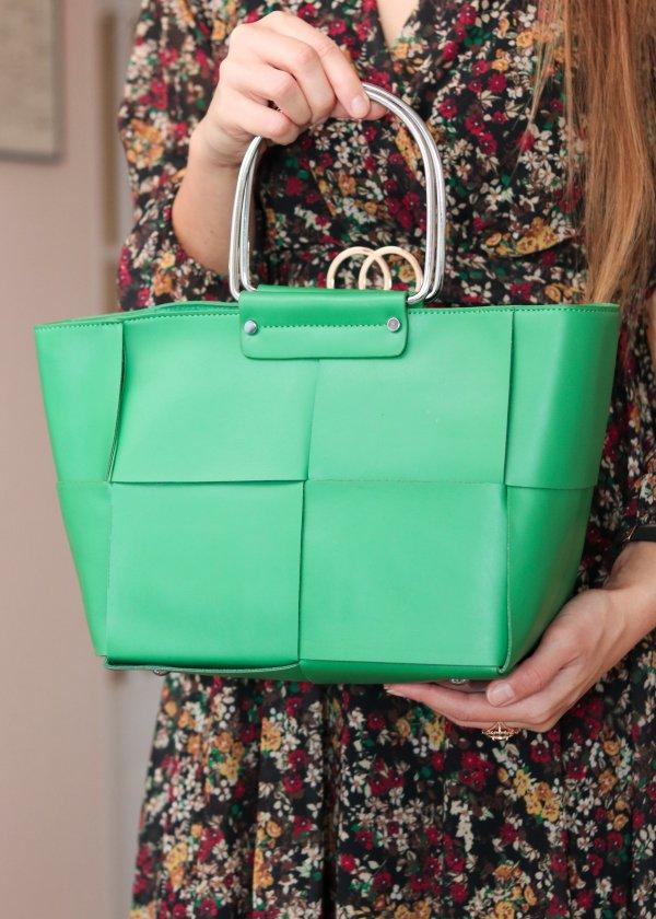 Elegantná kabelka v zelená farbe